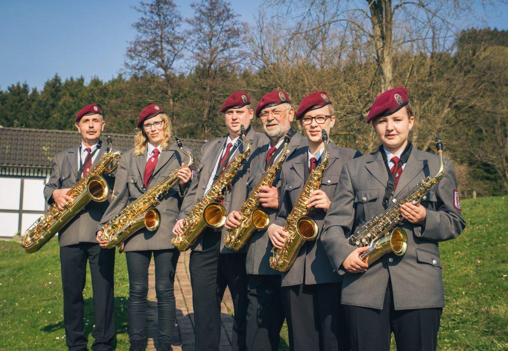 "Saxophon-Satz des Musikverein ""Cäcilia"" 1845 Saalhausen"
