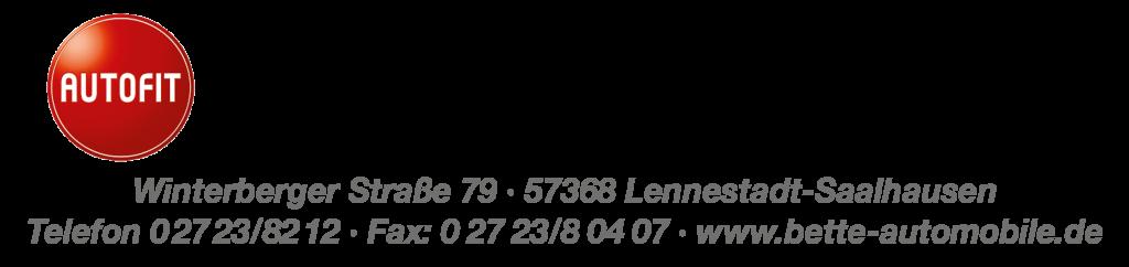 """Logo """"Bette Automobile GmbH"""""""