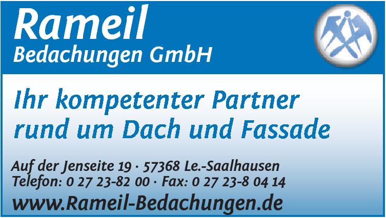 """Logo """"Rameil Bedachungen GmbH"""""""