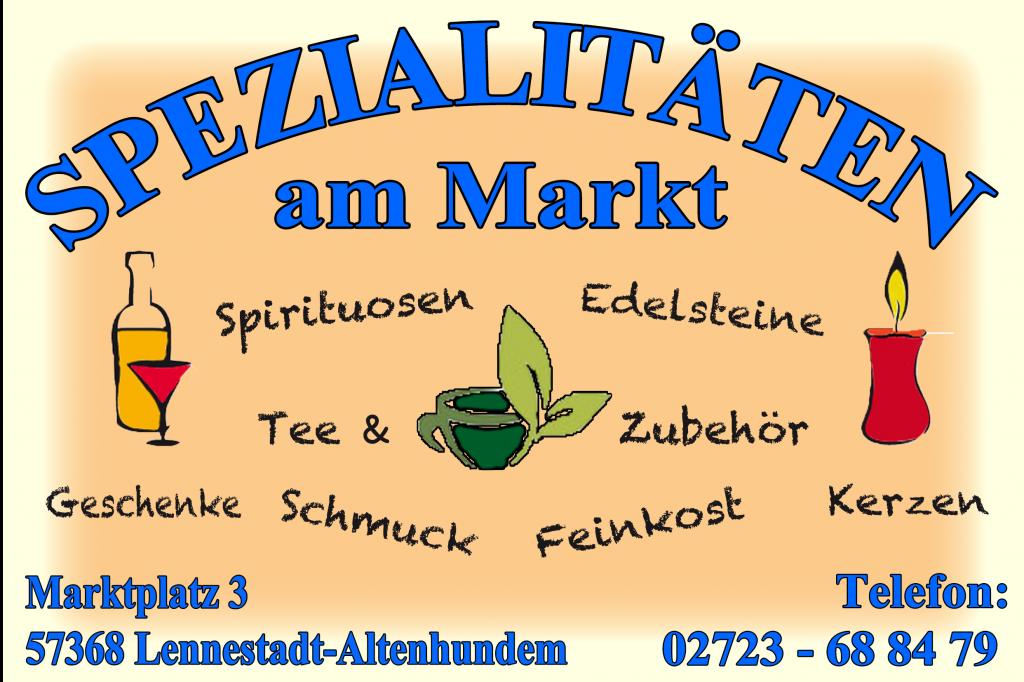 """Logo """"Spezialitäten am Markt"""""""